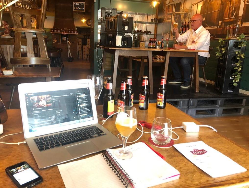 Hans Glandorf verzorgde al eerder een succesvolle proeverij met Texelse bieren