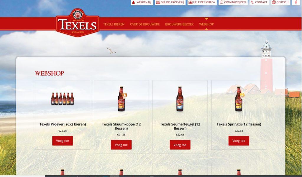 De Texelse Bierbrouwerij heeft een webshop geopend