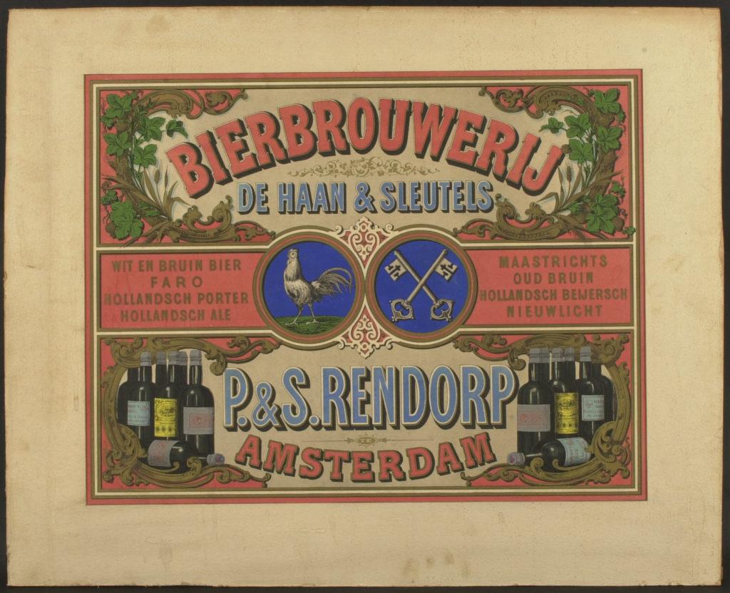 Affiche van Bierbrouwerij De Haan & Sleutels, bruikleen collectie Heineken